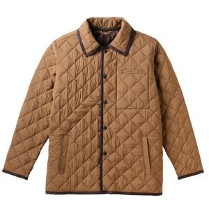 中綿あったか介護用防寒キルトジャケット(E100%)[キャメル]