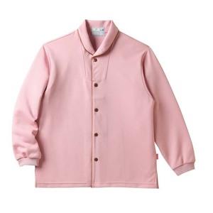 CR836ゆったりサイズ!着脱しやすい前開きシャツ男女兼用(E95C5)[ローズピンク]