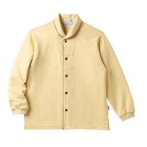 CR836ゆったりサイズ!着脱しやすい前開きシャツ男女兼用(E95C5)[マスタード]