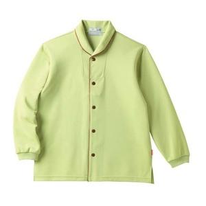 CR836ゆったりサイズ!着脱しやすい前開きシャツ男女兼用(E95C5)[グリーン]
