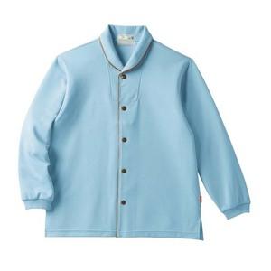 ゆったりサイズ!着脱しやすい前開きシャツ男女兼用(E95・C5)[ブルー]