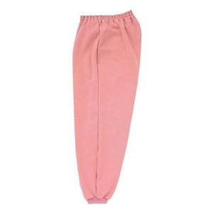 CR855ゆったりサイズ!裾フライス絞りらくらくパンツ男女兼用(E85C15)[ピンク]