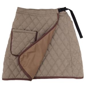 転倒骨折の不安を軽減、おさんぽスカート 膝掛けにも便利(T65C35)[ベージュ]
